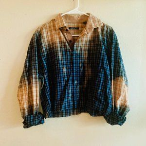 Custom Dyed Cropped Flannel